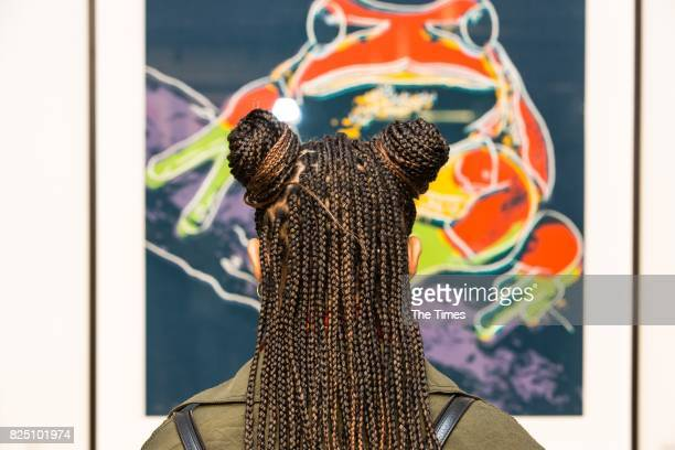 Jodie Lawrence during the opening of the Andy Warhol exhibition at the Wits Art Museum on July 26 2017 in Johannesburg South Africa The exhibition is...