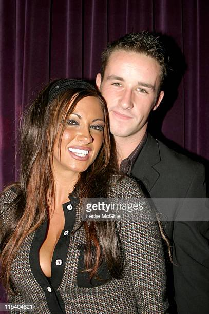 Jodie Marsh and guest during 10 Room 7th Birthday Party at 10 Room in London Great Britain