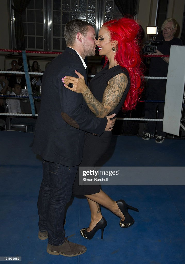 <a gi-track='captionPersonalityLinkClicked' href=/galleries/search?phrase=Jodie+Marsh&family=editorial&specificpeople=156427 ng-click='$event.stopPropagation()'>Jodie Marsh</a> and Raffle Winner attend the Loaded Magazine female wrestling tournament - Queen Of The Ring at Bloomsbury Ballroom on September 13, 2012 in London, England.