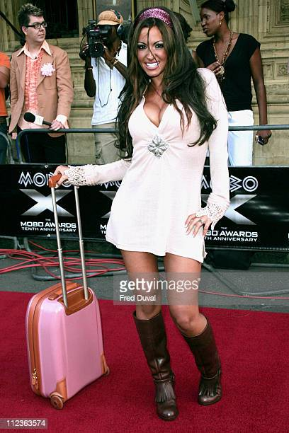 Jodie Marsh during 2005 MOBO Awards Arrivals at Royal Albert Hall in London Great Britain