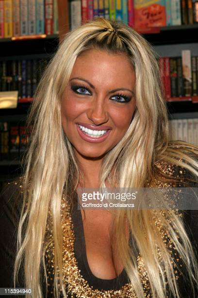 Jodie Marsh during Jodie Marsh Signs her New Autobiography 'Keeping It Real' at Ottakar's June 11 2005 at Ottakar's in Brentwood Great Britain