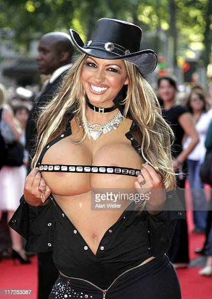 Jodie Marsh during Just My Luck London Film Premiere at Vue West End in London Great Britain