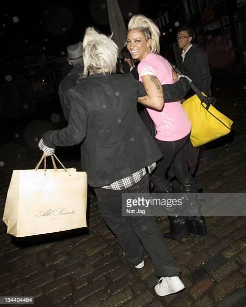 Jodie Marsh leaves Gilgamesh restaurant in Camden Town on November 03 2008 in London England