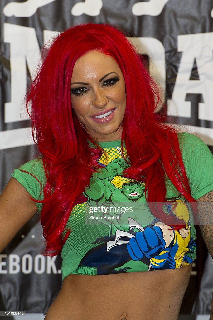Jodie Marsh presents Loaded Glamour Girl Wrestling at Lillywhites on August 31, 2012 in London, England.
