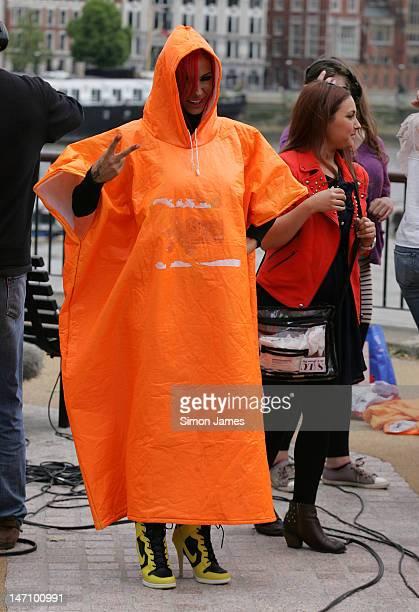 Jodie Marsh seen at ITV studios on June 25 2012 in London England