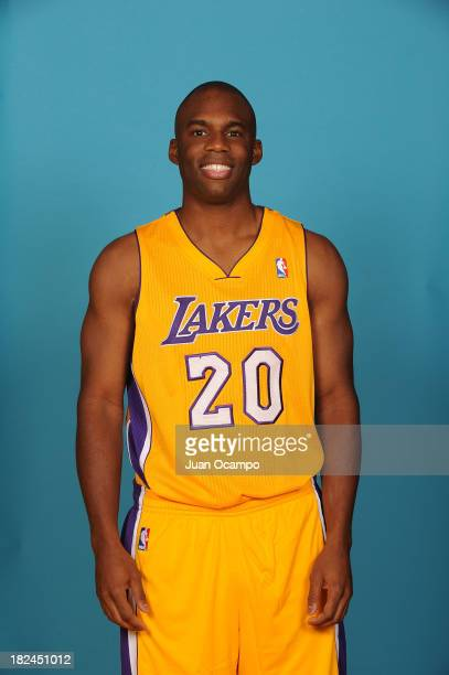 Jodie Meeks of the Los Angeles Lakers poses for a head shot during media day at Toyota Sports Center on September 28 2013 in El Segundo California...