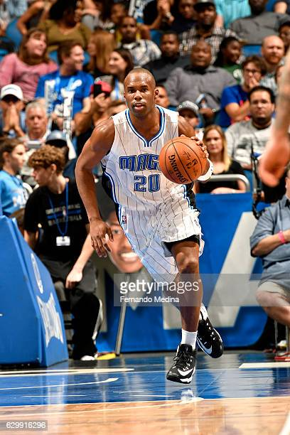 Jodie Meeks of the Orlando Magic brings the ball up court during the game against the Los Angeles Clippers on December 14 2016 at Amway Center in...