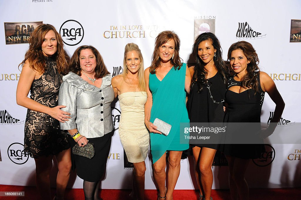 Jodie, Robin Gechman Schafer Yacono, Melissa Raycoft Difu, Shari Brigman, Renita Kilgore and Deana Dyal attends the 'I'm In Love With A Church Girl' premiere at California Theatre on October 15, 2013 in San Jose, California.