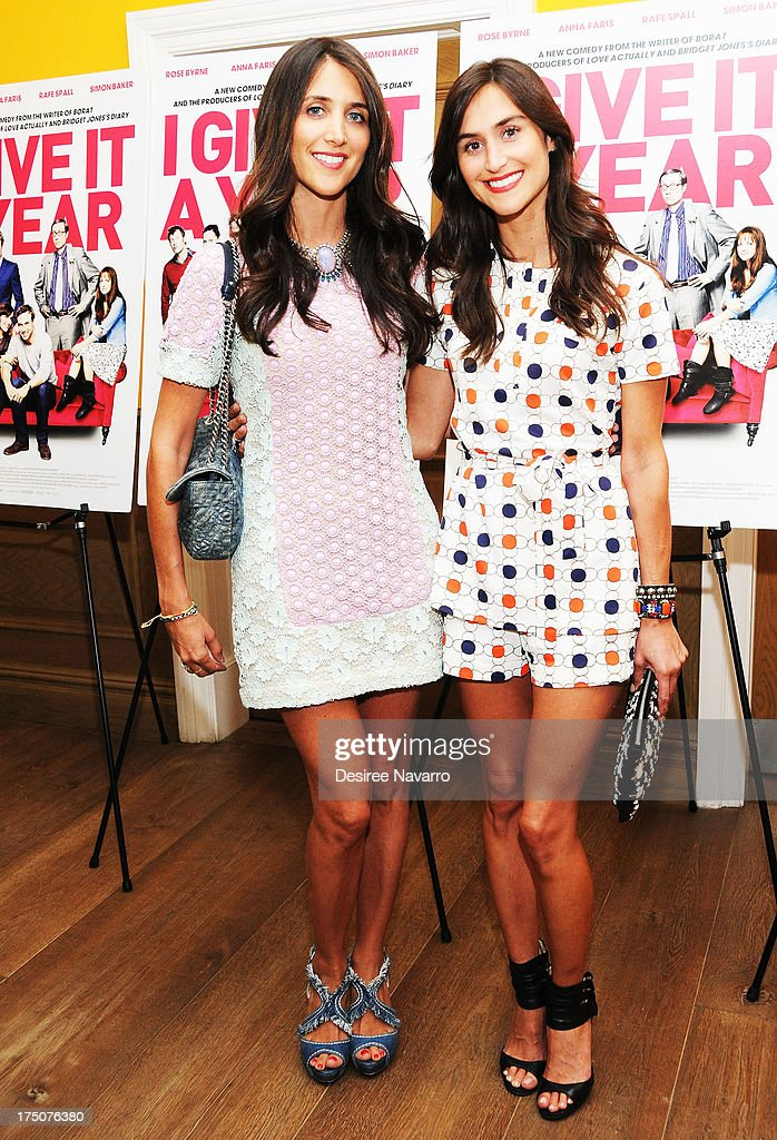 Jodie Snyder and Danielle Snyder attend the 'I Give It A Year' New York Screening at the Crosby Street Theater on July 30, 2013 in New York City.