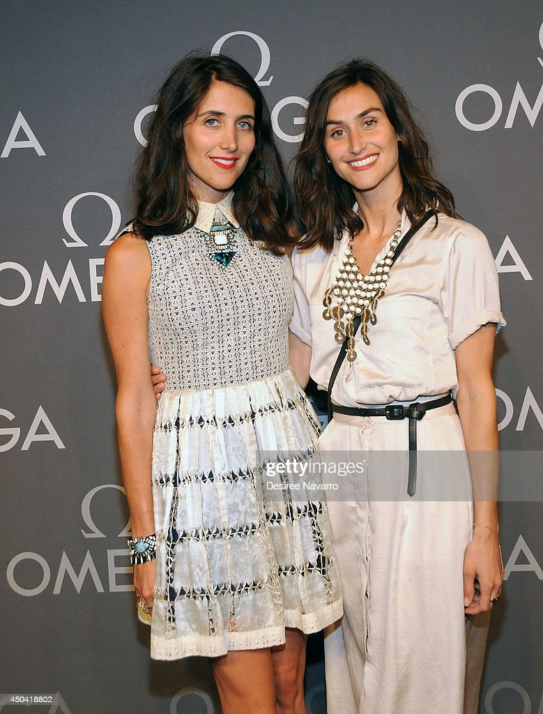 Jodie Snyder and Danielle Snyder attend the OMEGA Speedmaster Dark Side of the Moon launch at Cedar Lake on June 10, 2014 in New York City.
