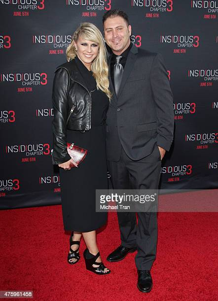 Jodie Sweetin and Justin Hodak arrive at the Los Angeles premiere of 'Insidious Chapter 3' held at TCL Chinese Theatre IMAX on June 4 2015 in...