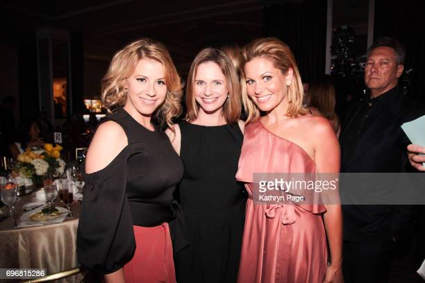 Jodie Sweetin Andrea Barber and Candace Cameron Bure attend the 30th Annual Scleroderma Benefit at the Beverly Wilshire Four Seasons Hotel on June 16...