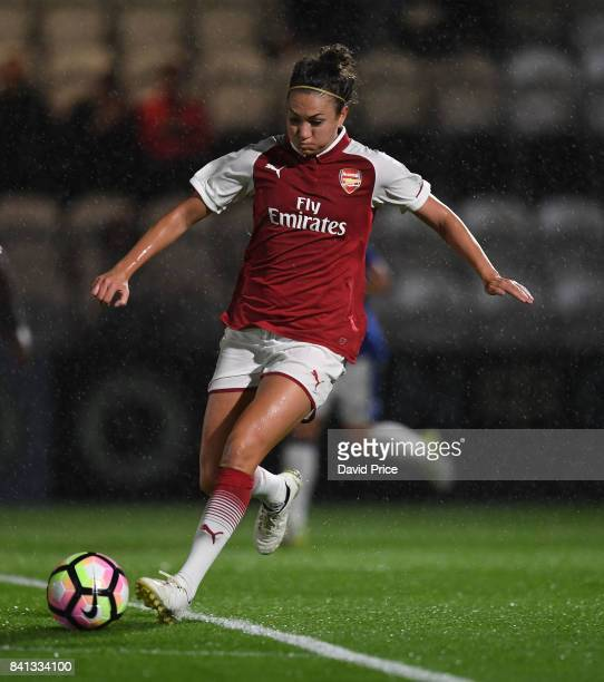 Jodie Taylor of Arsenal during the match between Arsenal Women and Everton Ladies at Meadow Park on August 31 2017 in Borehamwood England