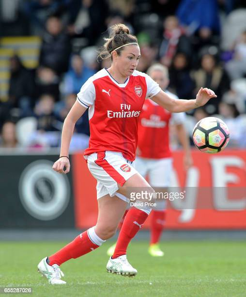 Jodie Taylor of Arsenal Ladies during the match between Arsenal Ladies and Tottenham Hotspur Ladies on March 19 2017 in Borehamwood England