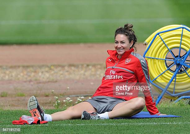 Jodie Taylor of Arsenal Ladies during their training session on July 13 2016 in London Colney England