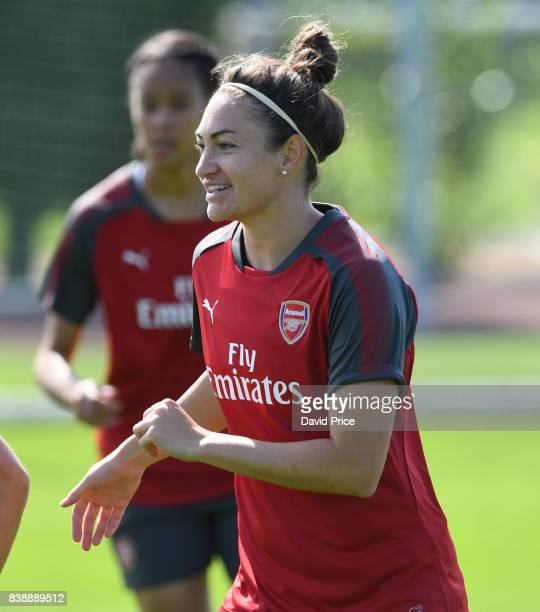 Jodie Taylor of Arsenal Women during an Arsenal Women Training Session at London Colney on August 25 2017 in St Albans England