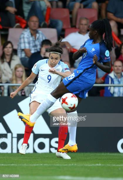Jodie Taylor of England and Griedge M'Bock Bathy of France during the UEFA Women's Euro 2017 quarter final match between England and France at...