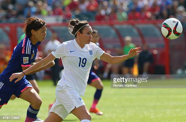 Jodie Taylor of England in action against Japan during the FIFA Women's World Cup Canada 2015 Semi Final match at Commonwealth Stadium on July 1 2015...