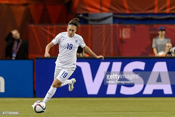 Jodie Taylor of England moves the ball during the 2015 FIFA Women's World Cup Group F match against Colombia at Olympic Stadium on June 17 2015 in...