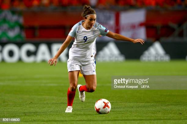 Jodie Taylor of England runs with the ball during the UEFA Women's Euro 2017 Second Semi Final match between Netherlands and England at De Grolsch...