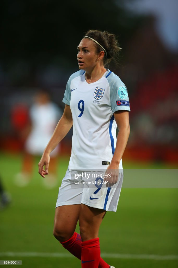 Jodie Taylor of England Women during the UEFA Women's Euro 2017 match between England and France at Stadion De Adelaarshorst on July 30, 2017 in Deventer, Netherlands.