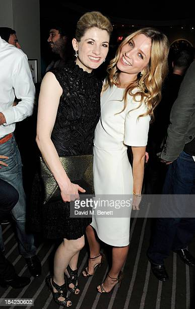 Jodie Whittaker and Annabelle Wallis attend the 'Hello Carter' postscreening party at The Groucho Club on October 12 2013 in London England