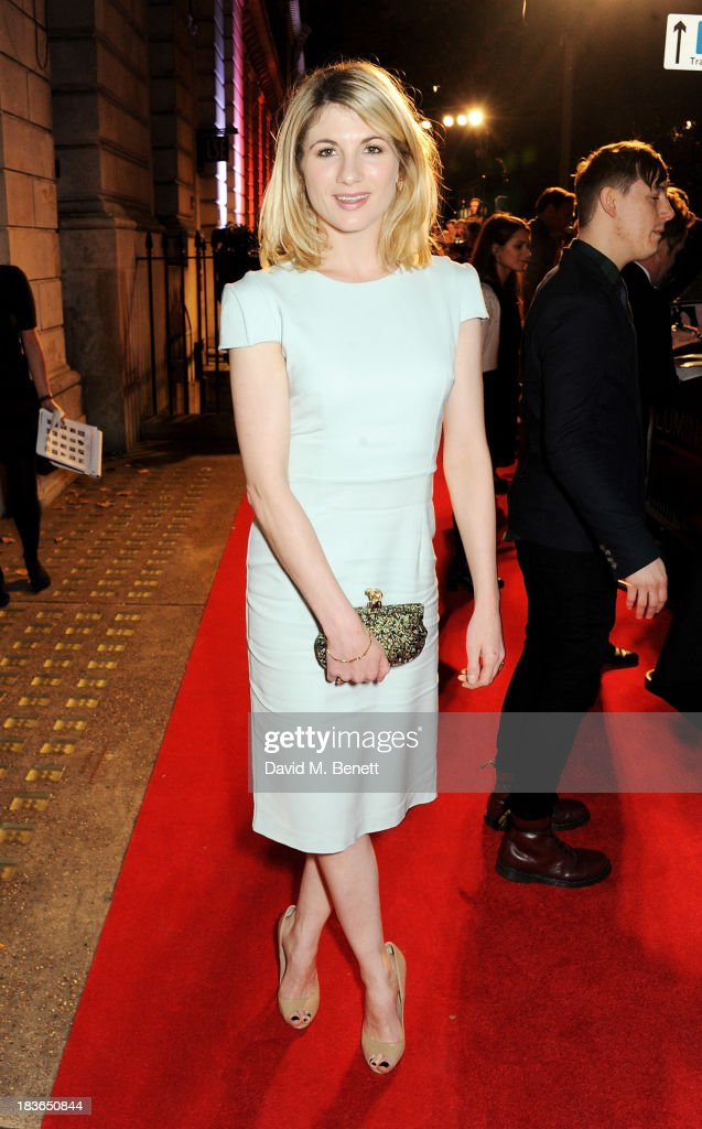 <a gi-track='captionPersonalityLinkClicked' href=/galleries/search?phrase=Jodie+Whittaker&family=editorial&specificpeople=3964596 ng-click='$event.stopPropagation()'>Jodie Whittaker</a> attends a BFI Luminous Gala ahead of the London Film Festival at 8 Northumberland Avenue on October 8, 2013 in London, England.