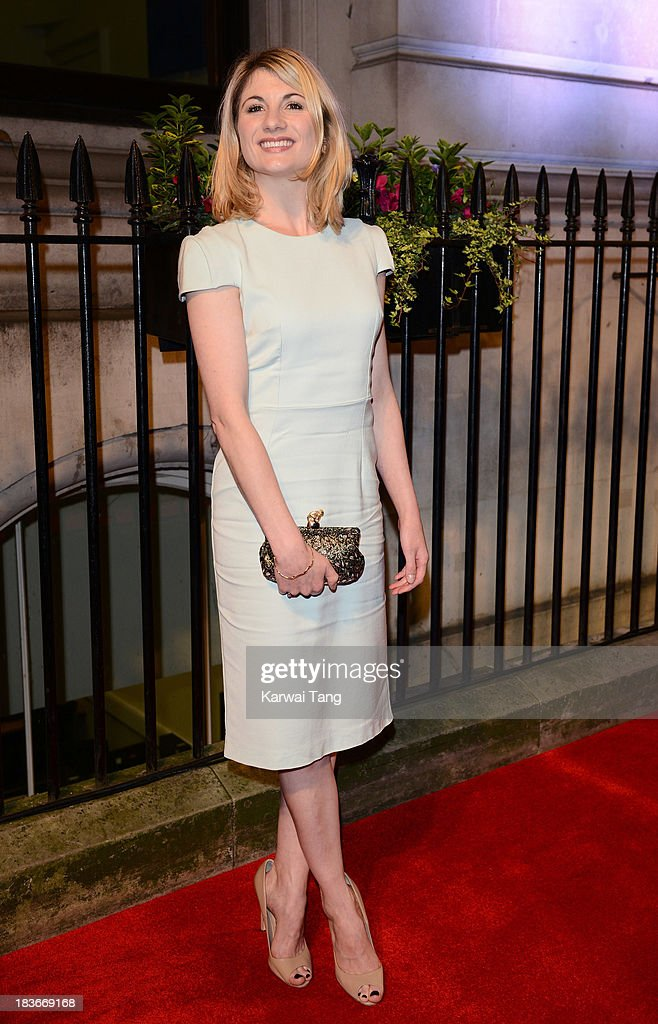 <a gi-track='captionPersonalityLinkClicked' href=/galleries/search?phrase=Jodie+Whittaker&family=editorial&specificpeople=3964596 ng-click='$event.stopPropagation()'>Jodie Whittaker</a> attends a gala dinner hosted by the BFI ahead of the London Film Festival at 8 Northumberland Avenue on October 8, 2013 in London, England.