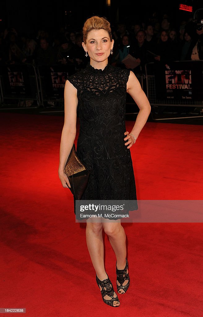 <a gi-track='captionPersonalityLinkClicked' href=/galleries/search?phrase=Jodie+Whittaker&family=editorial&specificpeople=3964596 ng-click='$event.stopPropagation()'>Jodie Whittaker</a> attends a screening of 'Hello Carter' during the 57th BFI London Film Festival at Odeon West End on October 12, 2013 in London, England.