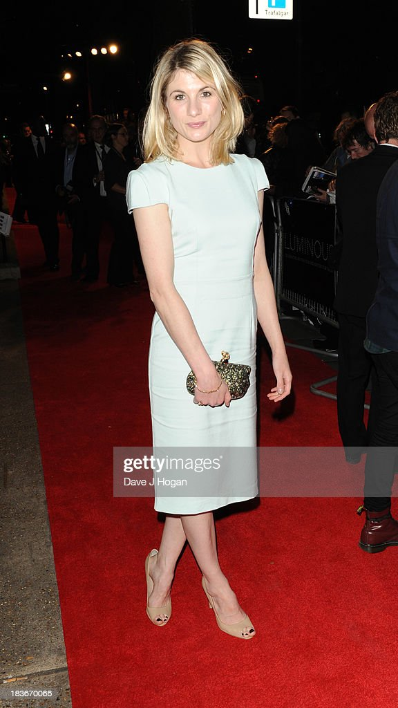 <a gi-track='captionPersonalityLinkClicked' href=/galleries/search?phrase=Jodie+Whittaker&family=editorial&specificpeople=3964596 ng-click='$event.stopPropagation()'>Jodie Whittaker</a> attends BFI Gala Dinner on October 8, 2013 in London, England.