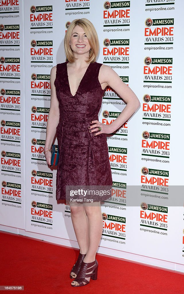 Jodie Whittaker attends the 18th Jameson Empire Film Awards at Grosvenor House, on March 24, 2013 in London, England.