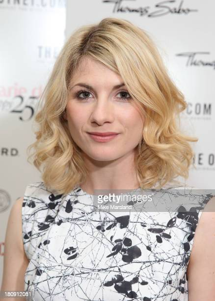 Jodie Whittaker attends the 25th birthday party of Marie Claire at Hotel Cafe Royal on September 17 2013 in London England