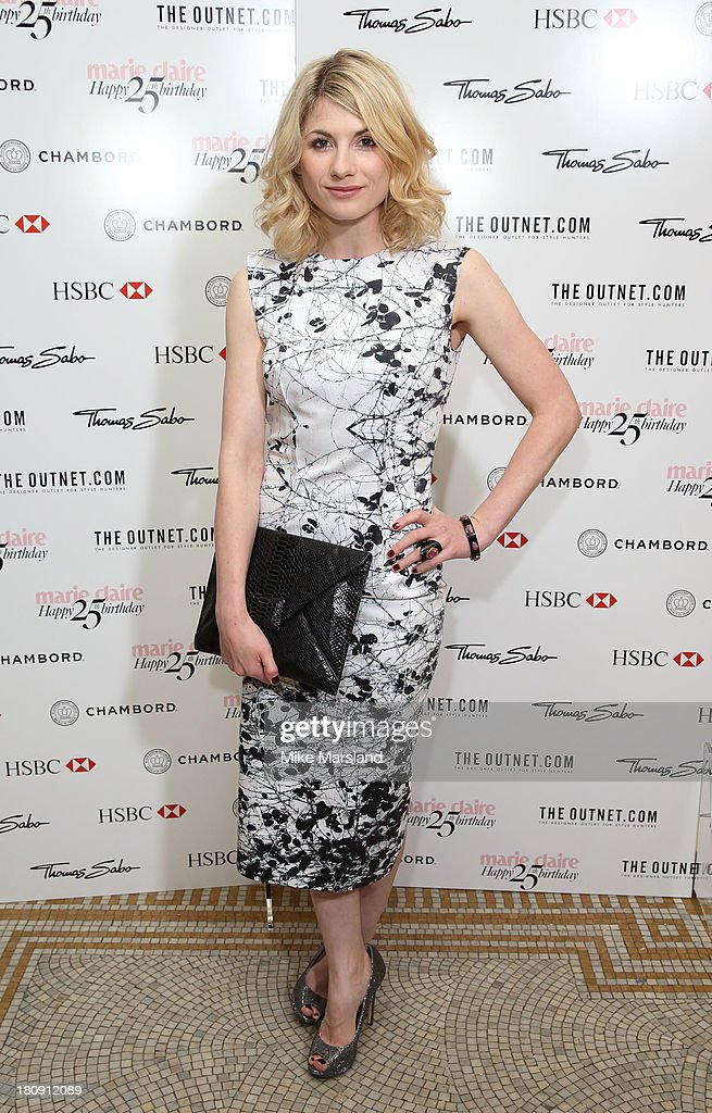 <a gi-track='captionPersonalityLinkClicked' href=/galleries/search?phrase=Jodie+Whittaker&family=editorial&specificpeople=3964596 ng-click='$event.stopPropagation()'>Jodie Whittaker</a> attends the 25th birthday party of Marie Claire at Hotel Cafe Royal on September 17, 2013 in London, England.