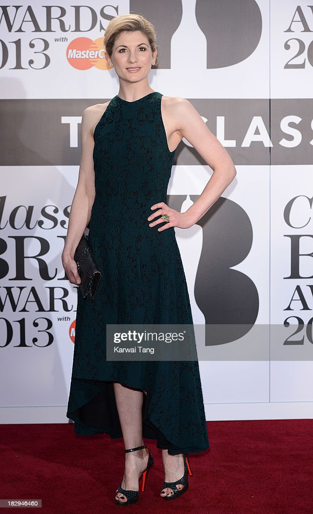 Jodie Whittaker attends the Classic BRIT Awards 2013 at Royal Albert Hall on October 2, 2013 in London, England.