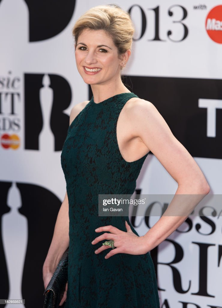 <a gi-track='captionPersonalityLinkClicked' href=/galleries/search?phrase=Jodie+Whittaker&family=editorial&specificpeople=3964596 ng-click='$event.stopPropagation()'>Jodie Whittaker</a> attends the Classic BRIT Awards 2013 at the Royal Albert Hall on October 2, 2013 in London, England.