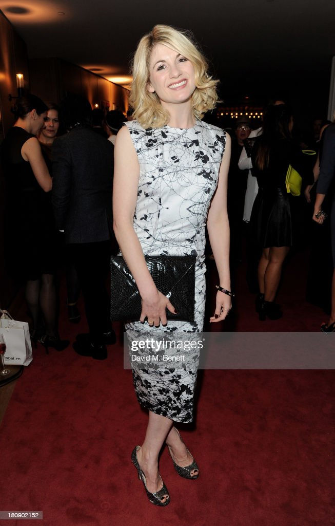 <a gi-track='captionPersonalityLinkClicked' href=/galleries/search?phrase=Jodie+Whittaker&family=editorial&specificpeople=3964596 ng-click='$event.stopPropagation()'>Jodie Whittaker</a> attends the Marie Claire 25th birthday celebration featuring Icons of Our Time in association with The Outnet at the Cafe Royal Hotel on September 17, 2013 in London, England.