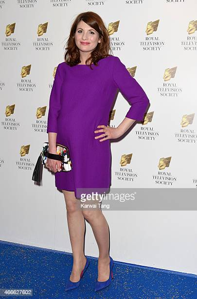 Jodie Whittaker attends the RTS Programme Awards at The Grosvenor House Hotel on March 17 2015 in London England