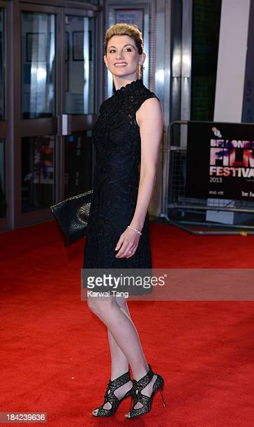 Jodie Whittaker attends the screening of 'Hello Carter' during the 57th BFI London Film Festival at Odeon West End on October 12 2013 in London...