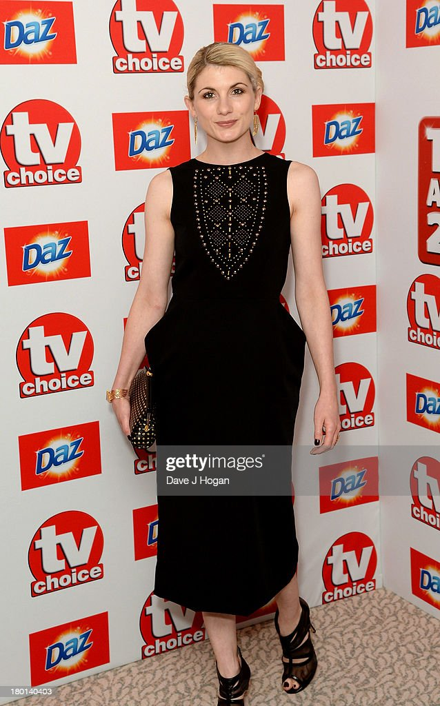 <a gi-track='captionPersonalityLinkClicked' href=/galleries/search?phrase=Jodie+Whittaker&family=editorial&specificpeople=3964596 ng-click='$event.stopPropagation()'>Jodie Whittaker</a> attends the TV Choice Awards 2013 at The Dorchester on September 9, 2013 in London, England.