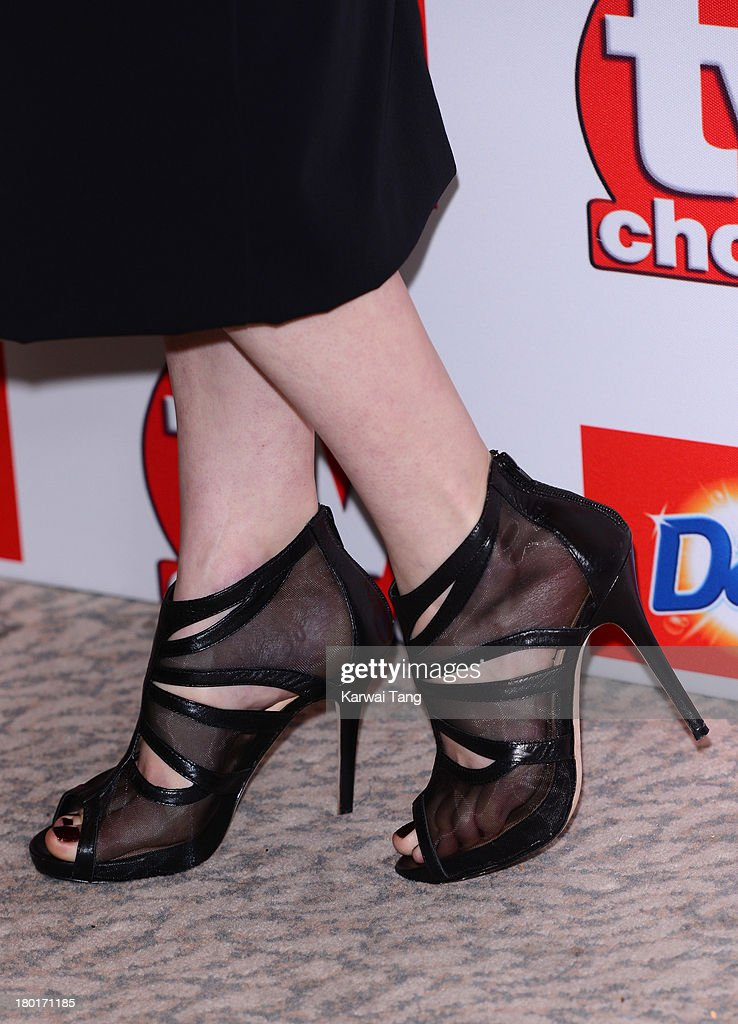 Jodie Whittaker (shoe detail) attends the TV Choice Awards 2013 at The Dorchester on September 9, 2013 in London, England.