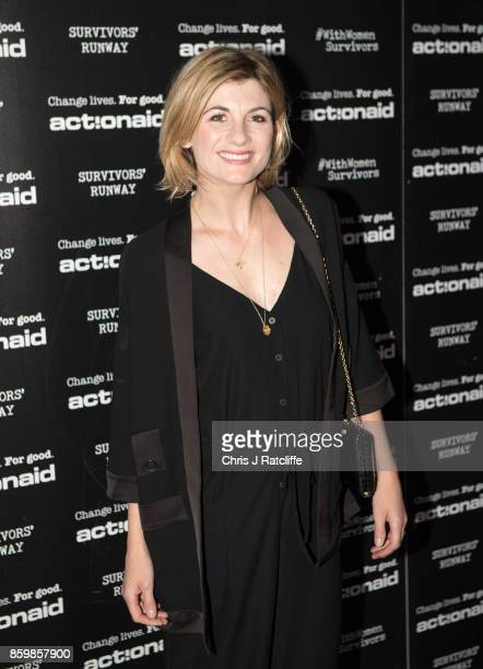 Jodie Whittaker during the ActionAid Fashion Show held at The Old Truman Brewery on October 10 2017 in London England
