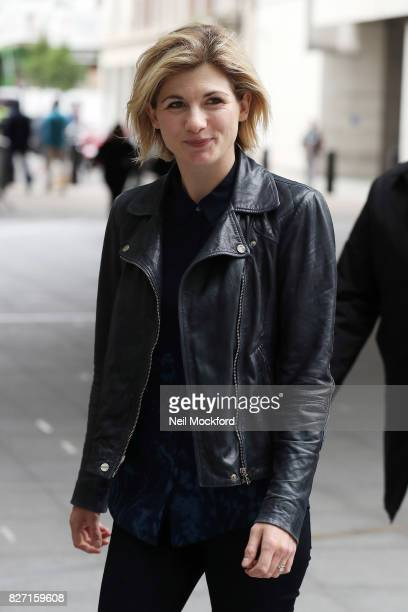 Jodie Whittaker seen at the BBC Radio Studios on August 7 2017 in London England