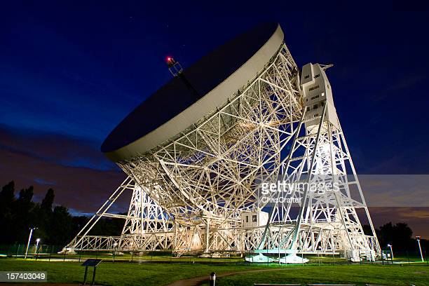 Jodrell Bank Observatory at Night
