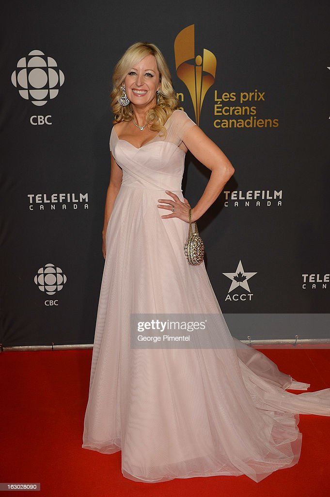 Jody Claman arrives at the Canadian Screen Awards at the Sony Centre for the Performing Arts on March 3, 2013 in Toronto, Canada.