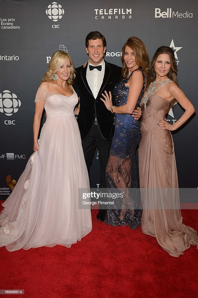 Jody Claman, Brad Smith, Ronnie Negus and Mary Zilba pose in the press room at the 2013 Canadian Screen Awards at Sony Centre for the Performing Arts on March 3, 2013 in Toronto, Canada.