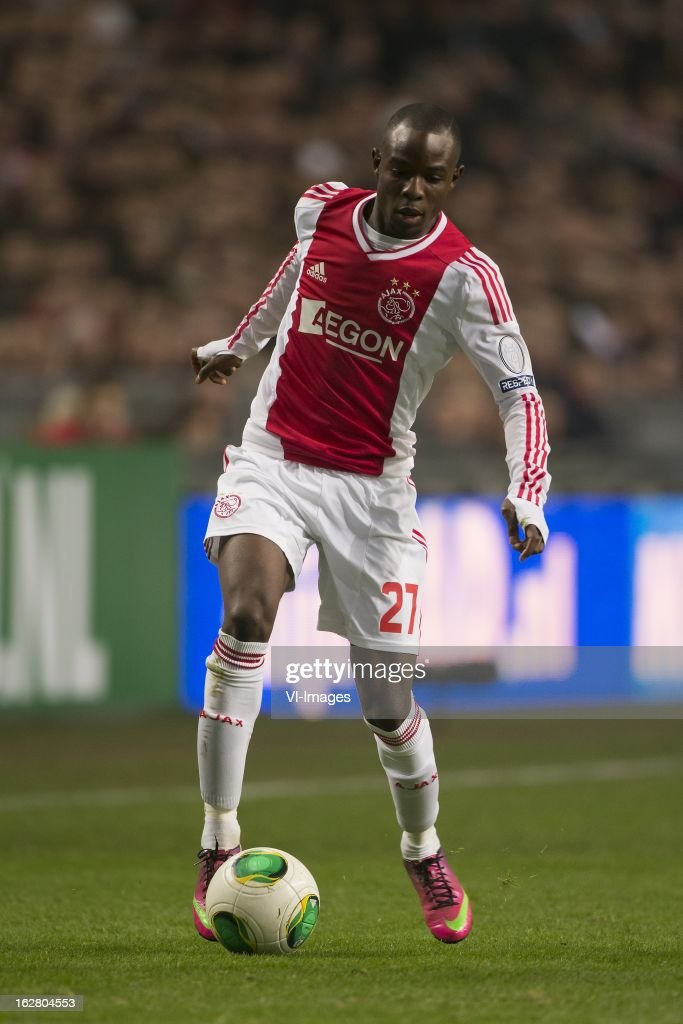 Jody Lukoki of Ajax during the Dutch Cup match between Ajax Amsterdam and AZ Alkmaar at the Amsterdam Arena on february 27, 2013 in Amsterdam, The Netherlands