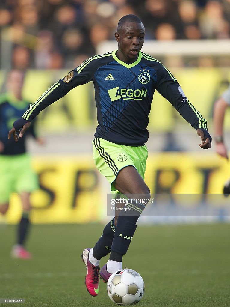 Jody Lukoki of Ajax during the Dutch Eredivisie match between RKC Waalwijk and Ajax Amsterdam at the Mandemakers Stadium on february 17, 2013 in Waalwijk, The Netherlands