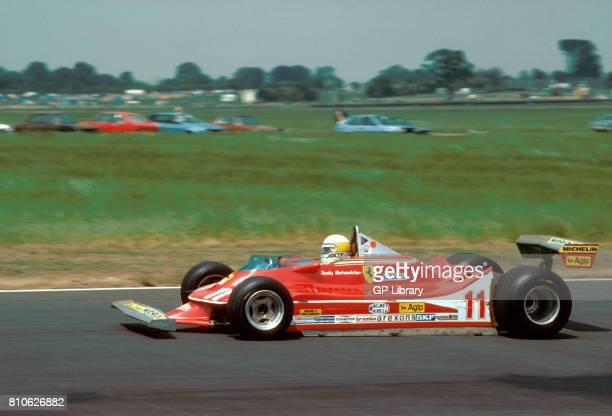 Jody Scheckter driving a Ferrari 312T4 at Silverstone British GP 5th