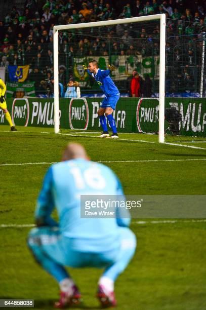 Jody VIVIANI / Stephane RUFFIER Boulogne / Saint Etienne 1/4Finale Coupe de France Photo Dave Winter / Icon Sport