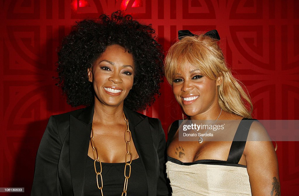 Jody Watley and Eve during MAC Chinese Dress Los Angeles at MAC Store in Los Angeles California United States